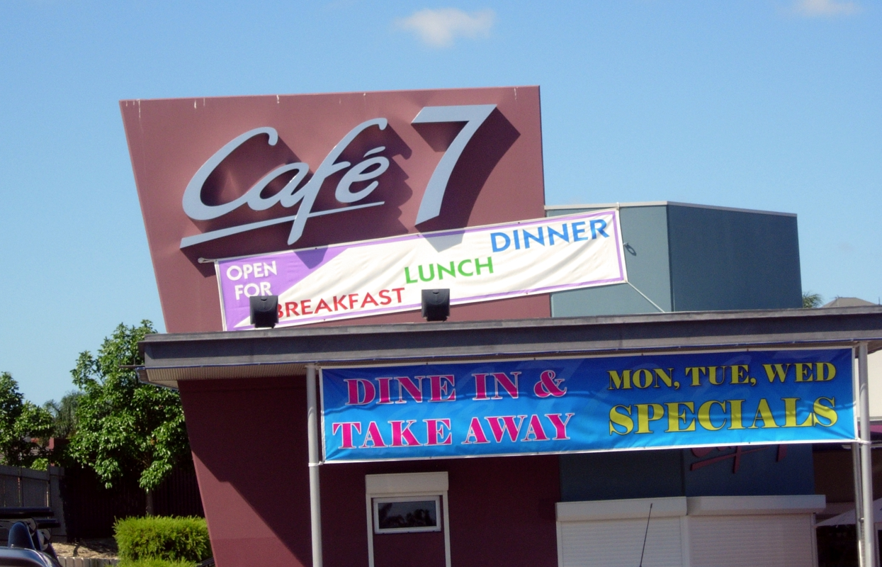 Commercial Building Signage for Café 7 in Perth