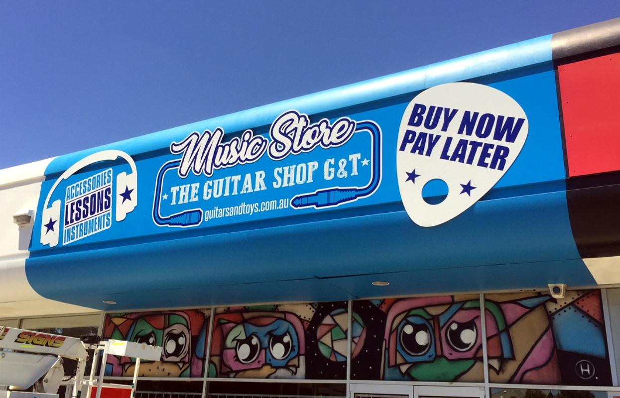 Facia Signage for The Guitar Shop G&T, Malaga WA