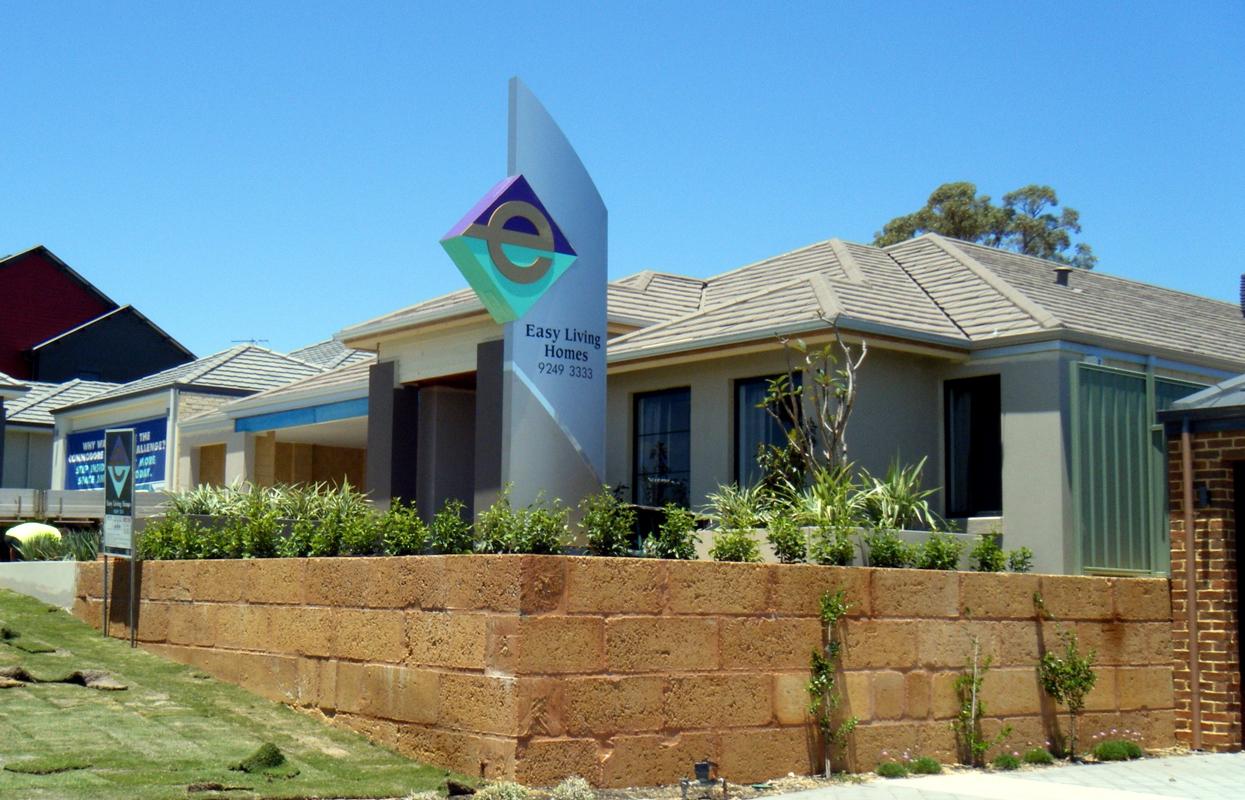 A custom pylon sign for property developer Easy Living Homes