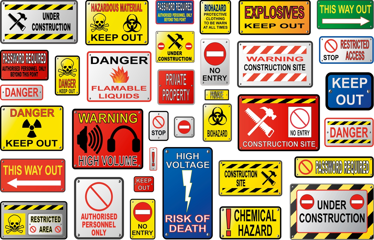 A variety of OHS Signs to choose from