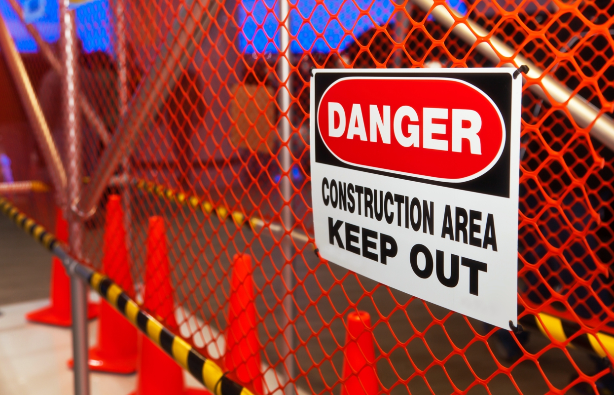 Safety signs for construction sites
