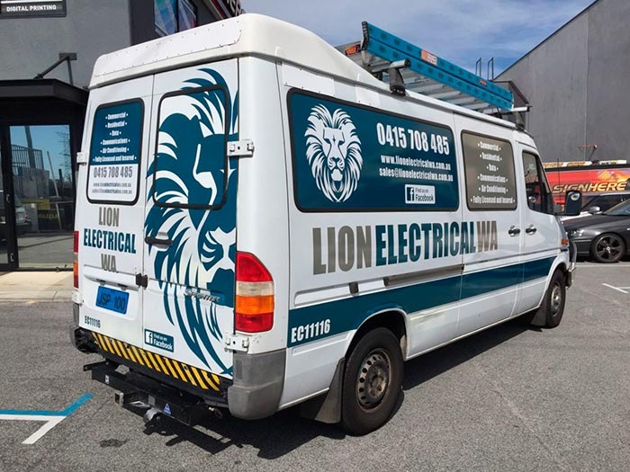Vehicle wraps for tradies, Perth