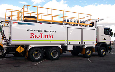 Mine spec vehicle graphics for Rio Tinto