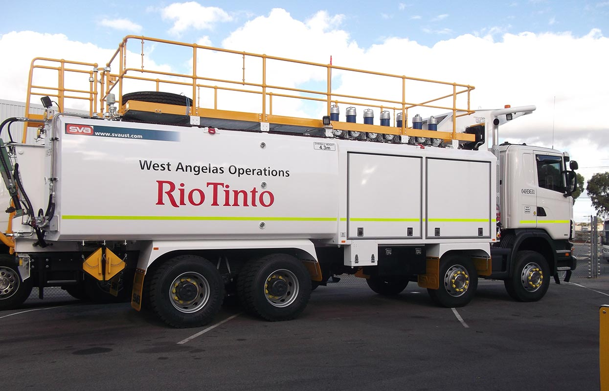 Mine spec signage for Rio Tinto