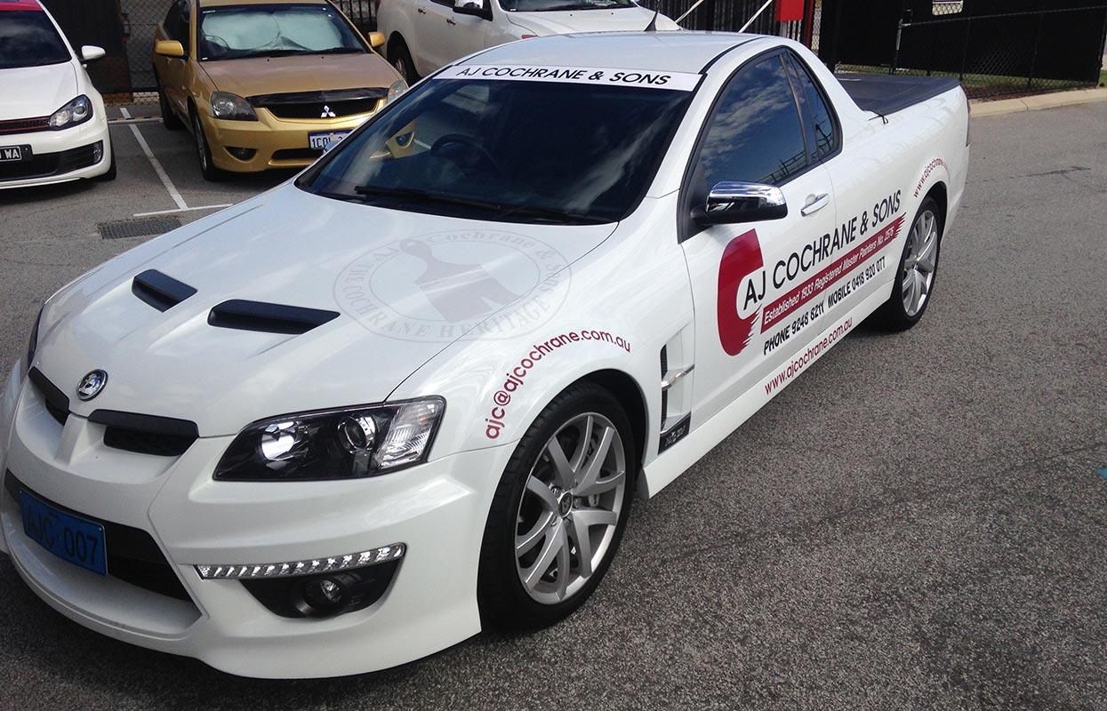 Vehicle signage for painters AJ Cochrane & Sons