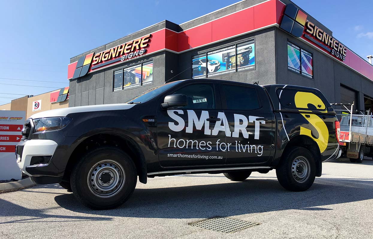 A vehicle wrap for Smart Homes for Living