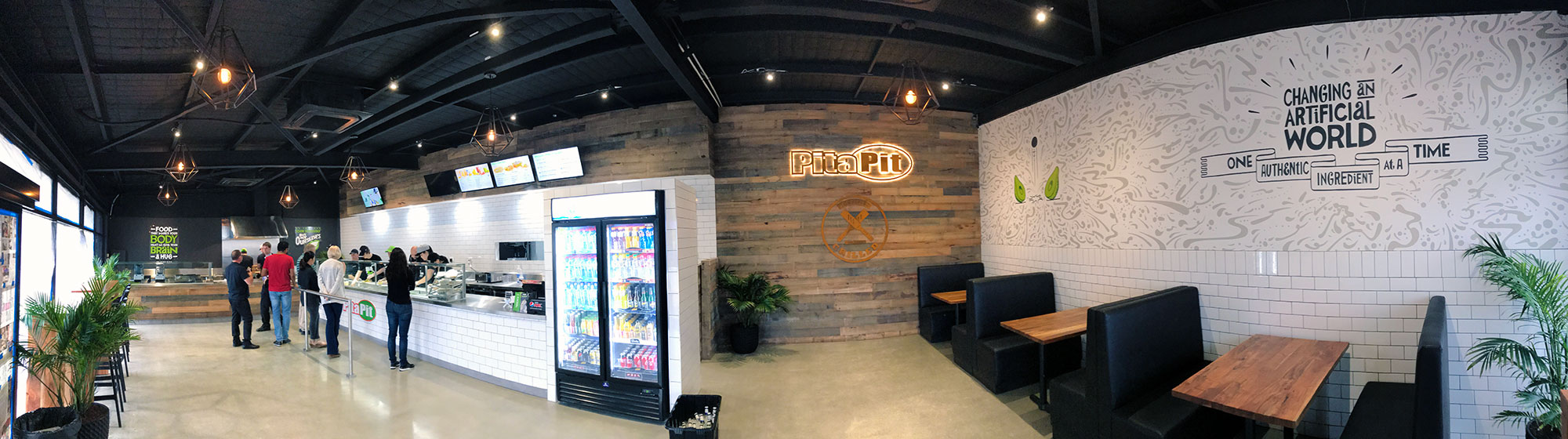 Pita Pit – A store that looks as great as the food tastes.