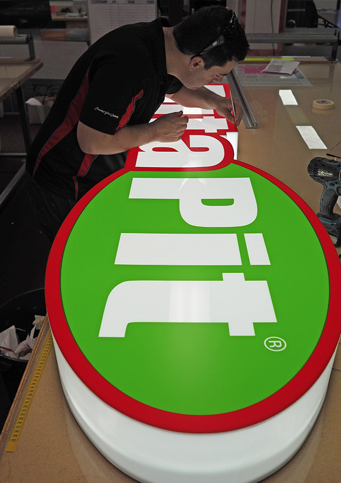 Fabricating a new lightbox for Pita Pit