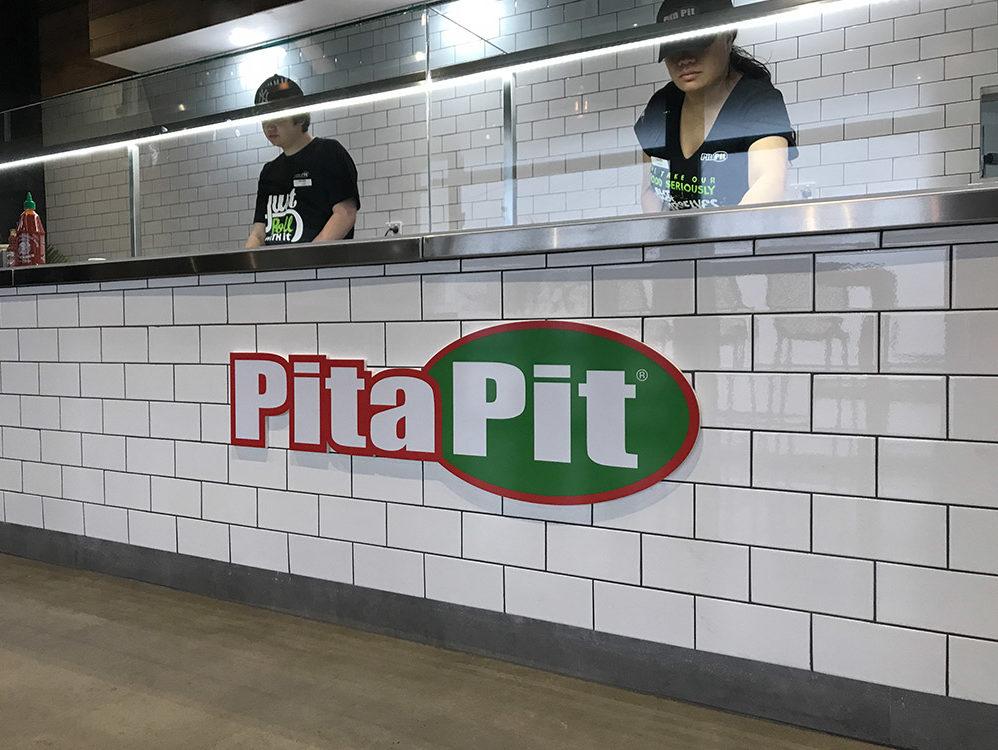 Pita Pit custom acrylic signage