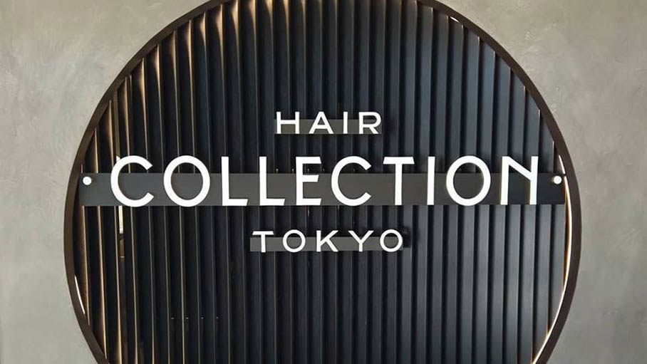 Custom retail signage for Hair Collection Tokyo