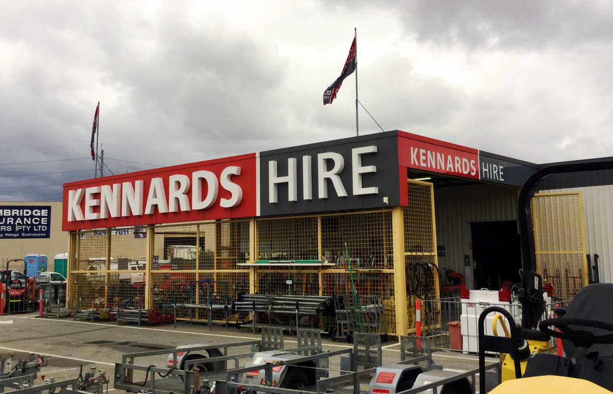 Custom 3D lettering and building signage for Kennards Hide