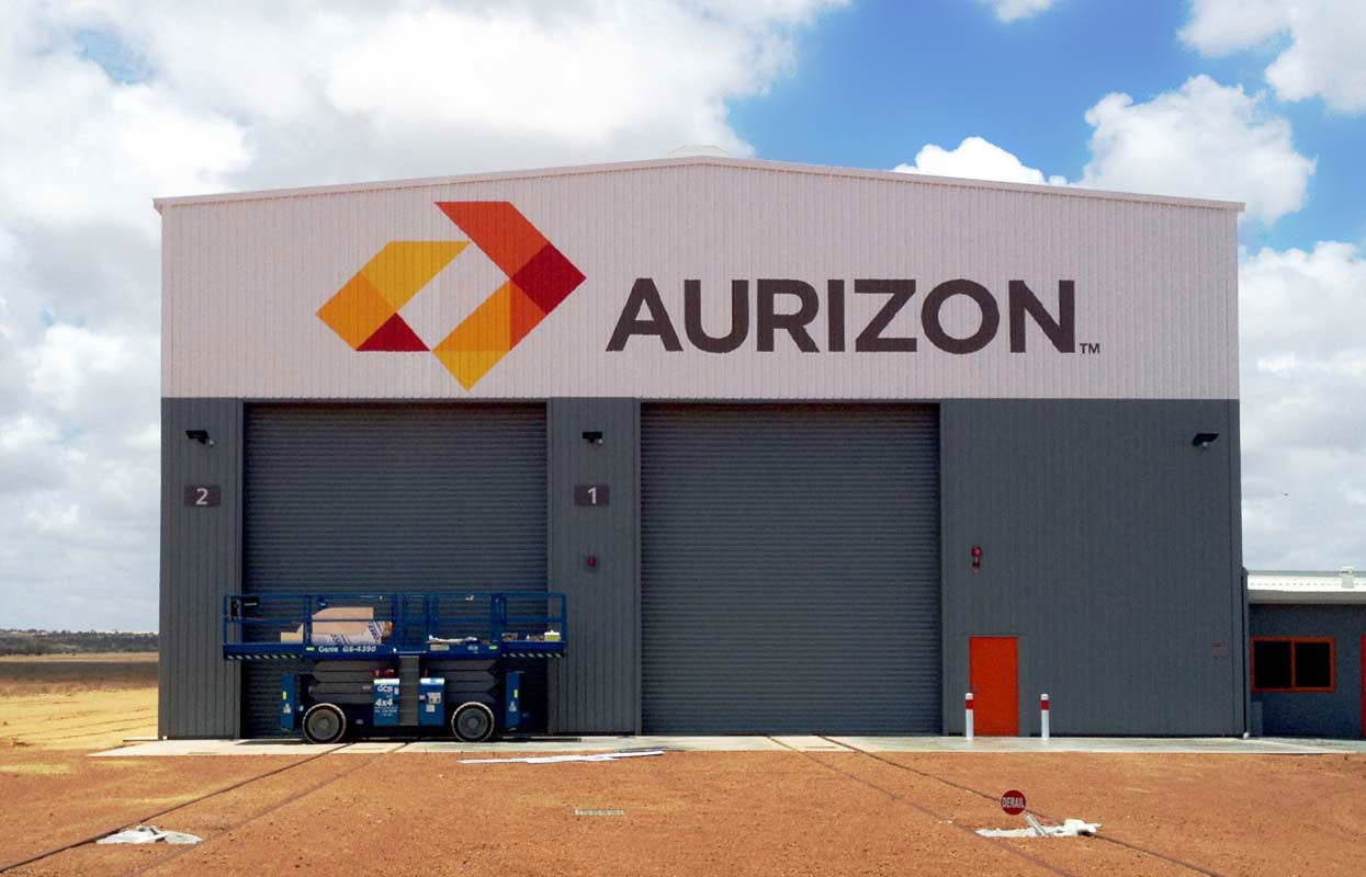 Large-scale industrial building signage for Aurizon