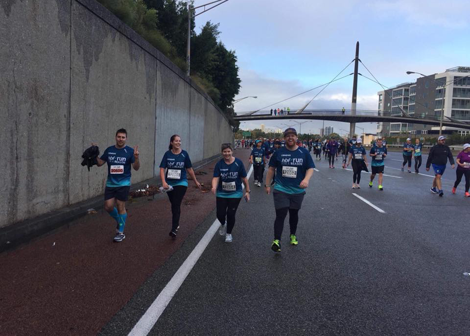 The Sign Here Signs team at the 2018 HBF Run for a Reason