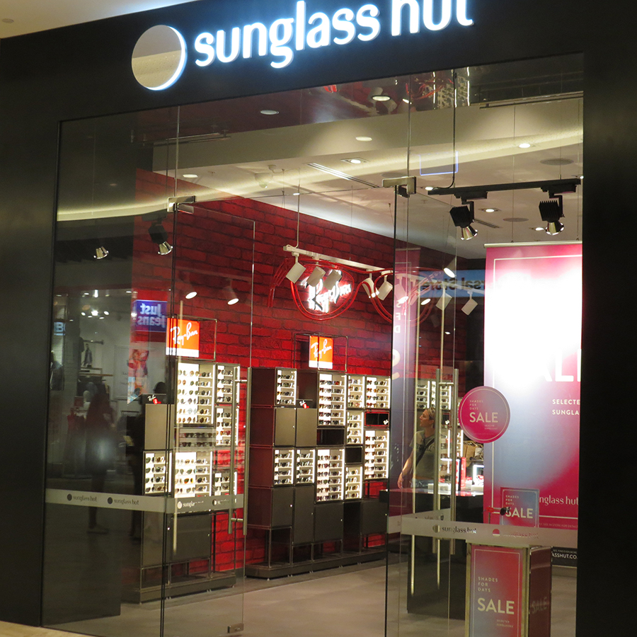 Shop fit-out for Sunglass Hut, Perth Western Australia