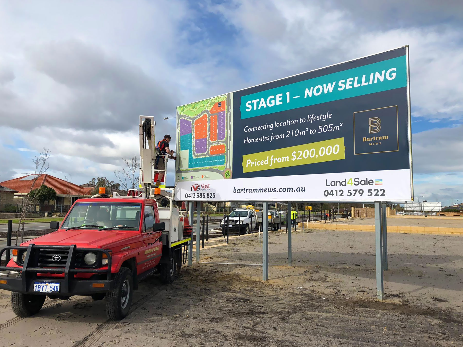 Billboard installation for Bartram Mews, Success