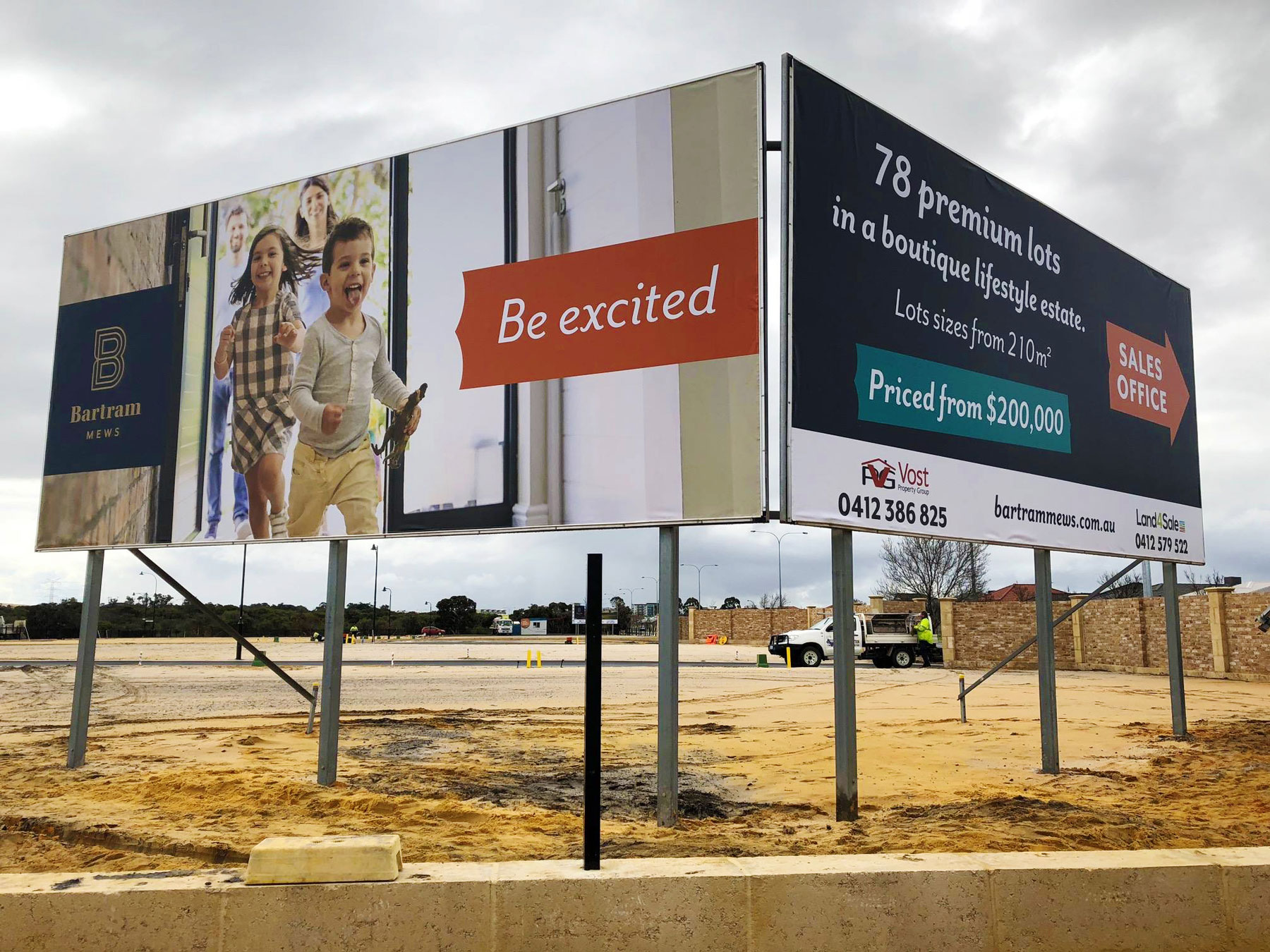 Billboards at Bartram Mews in Success, South of Perth