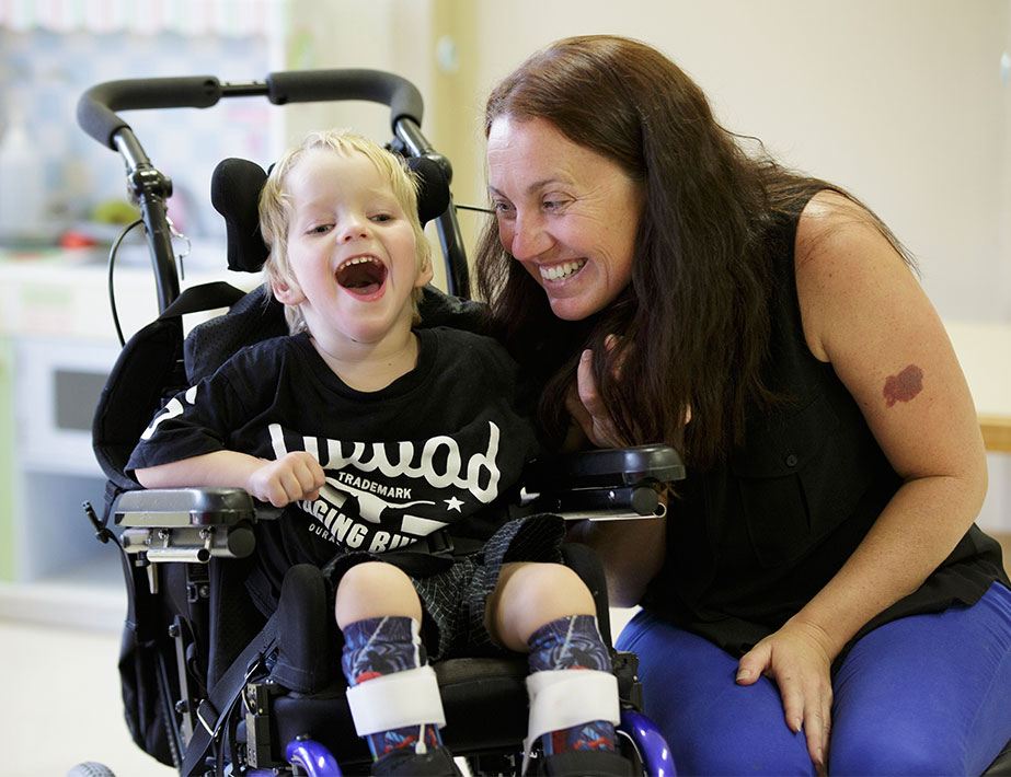 Steptember helps kids like Hunter - Child with cerebral palsy.