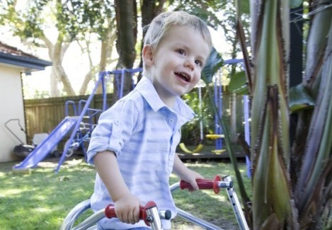 Steptember helps kids like Dan - Child with cerebral palsy.