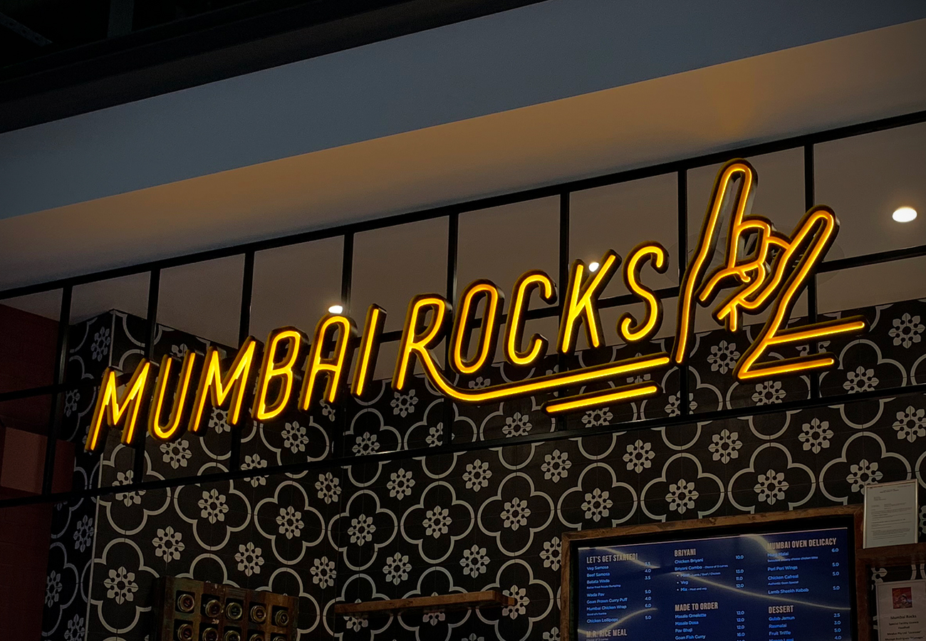 Illuminate signage for Mumbai Rocks at DFO, Perth