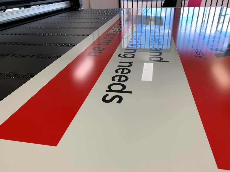 The first job to be printed on our new HP Latex R2000 Printer