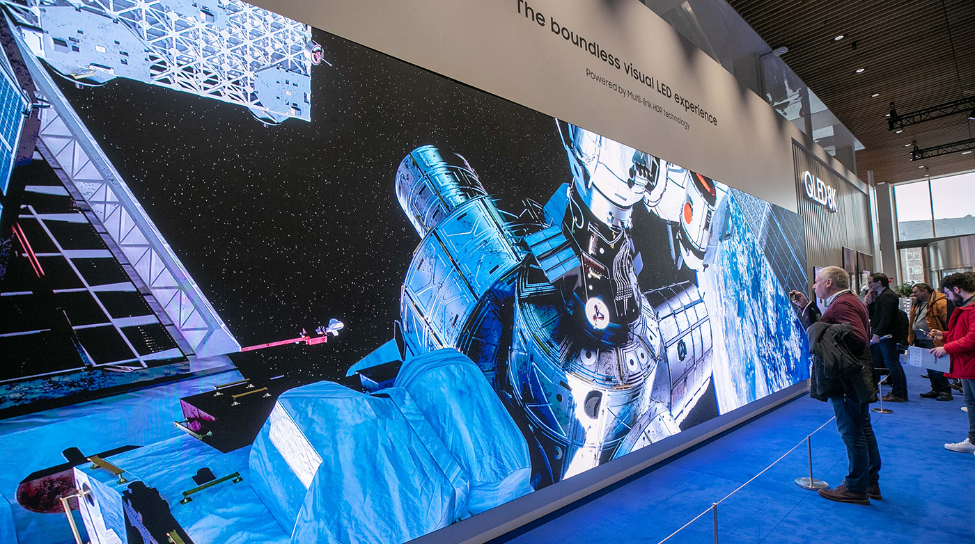 "Samsung's ""The Wall"" at ISE 2019"