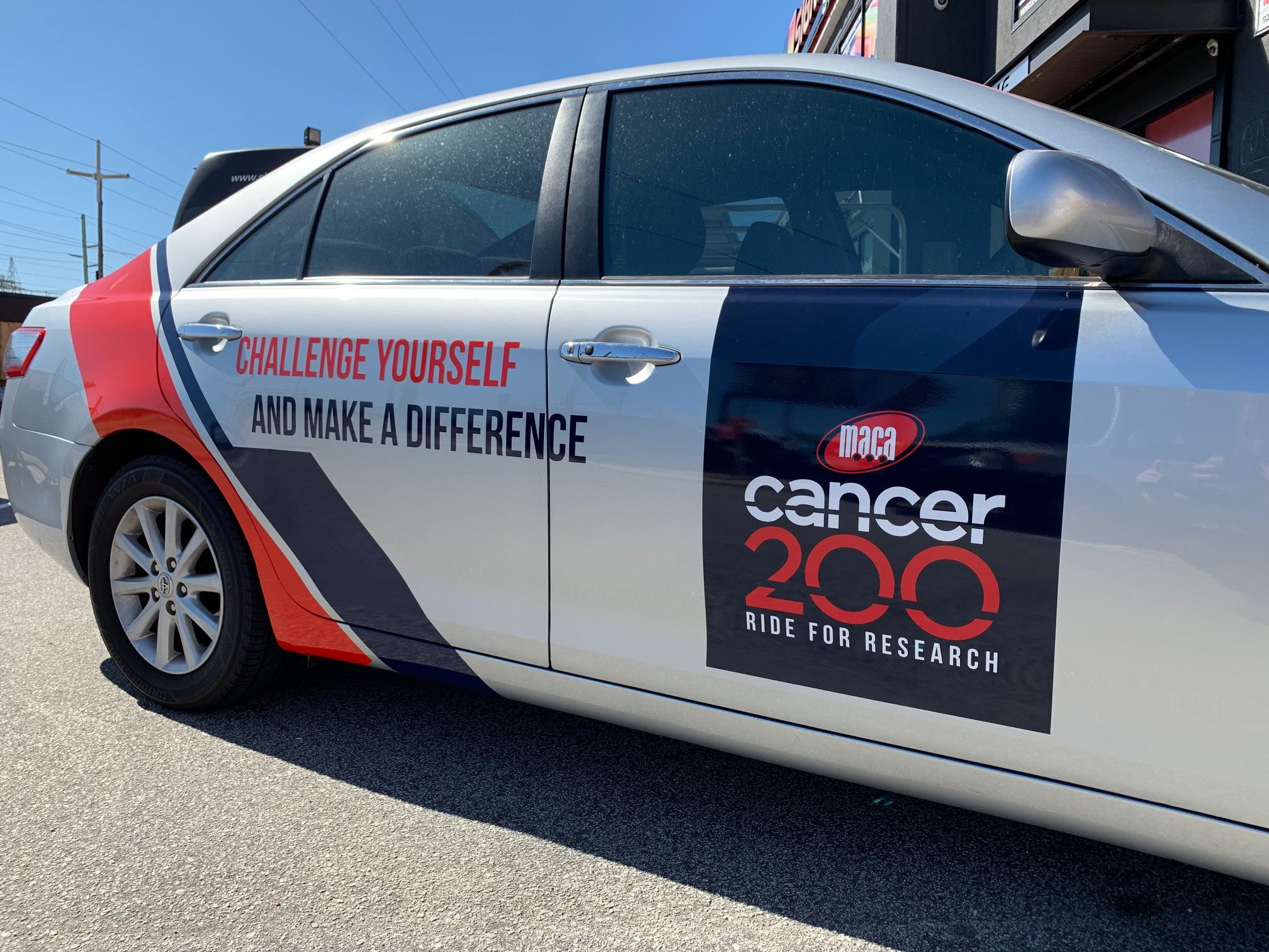 Vehicle graphics for MACA Cancer 200