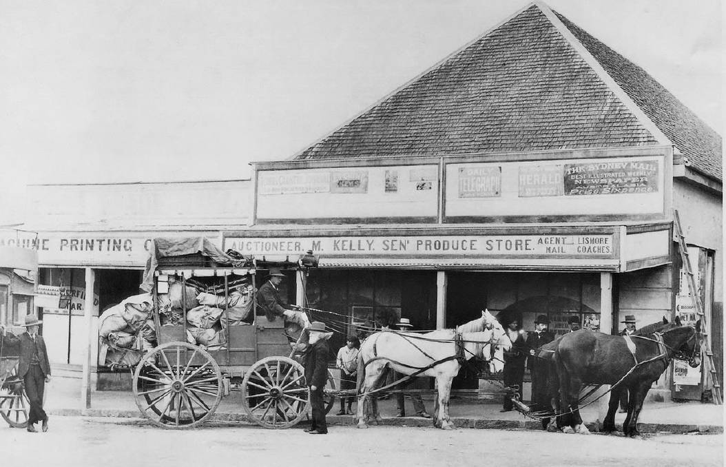 Old photo of the Tenterfield general store.