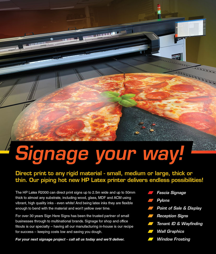Signage your way - HP Latex R2000