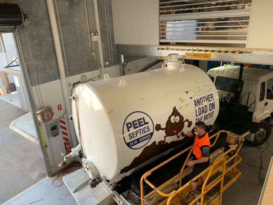 Peel Septics vehicle wrap