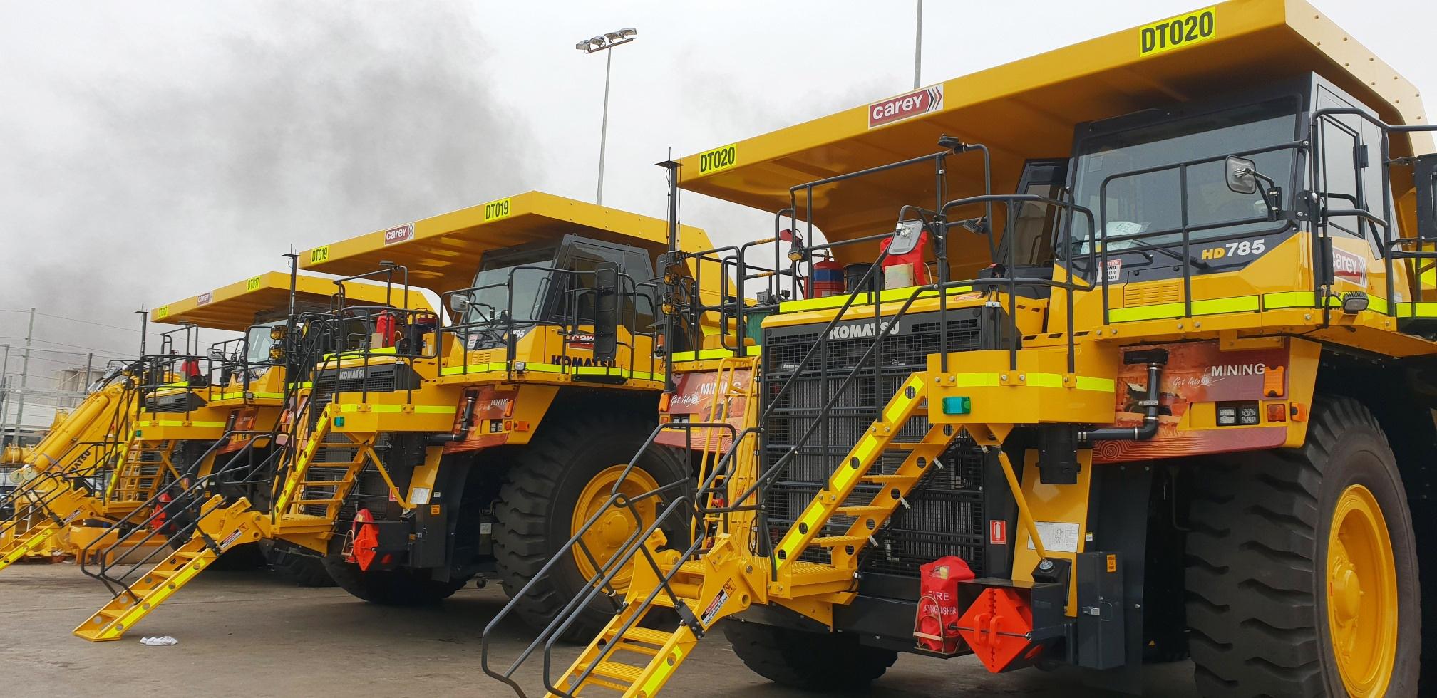 Vehicle signage for Carey Mining fleet