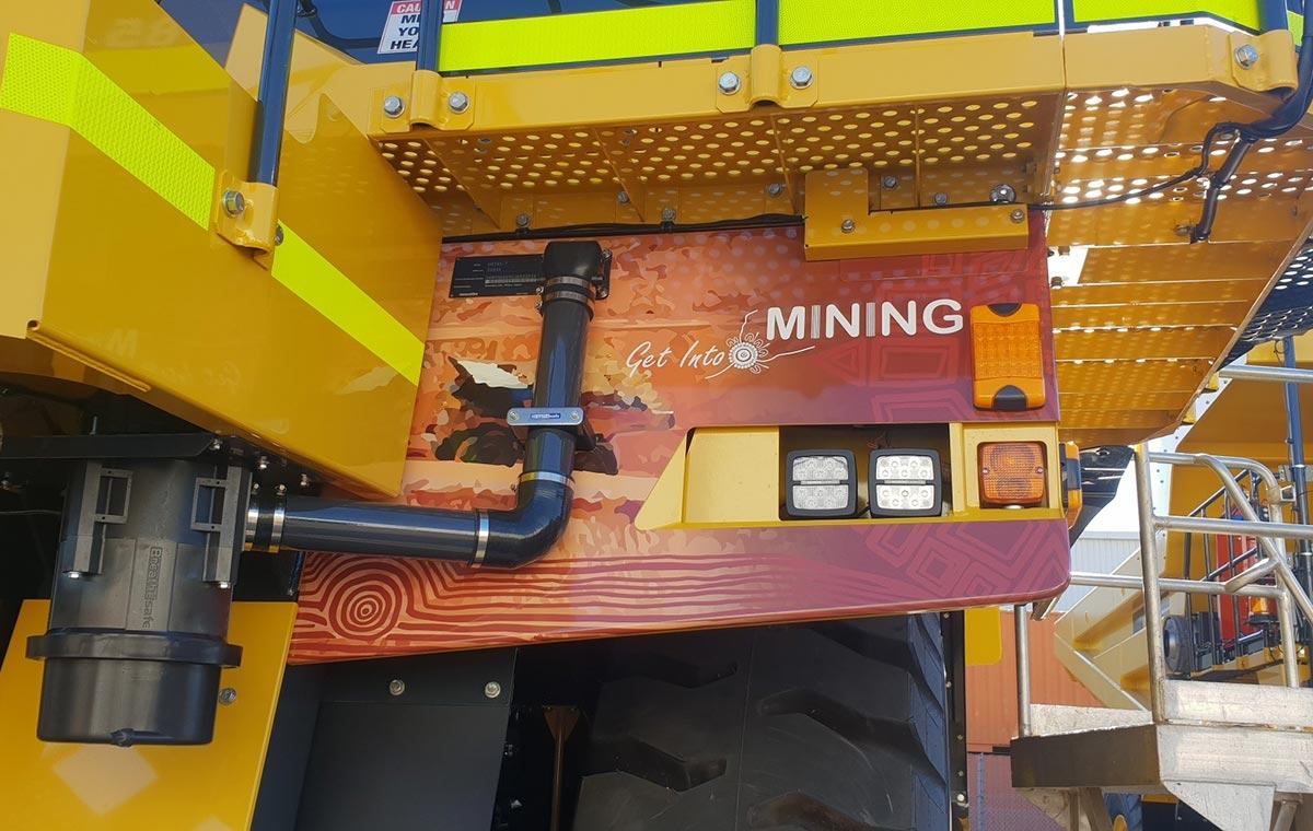 Indigenous vehicle signage for Carey Mining