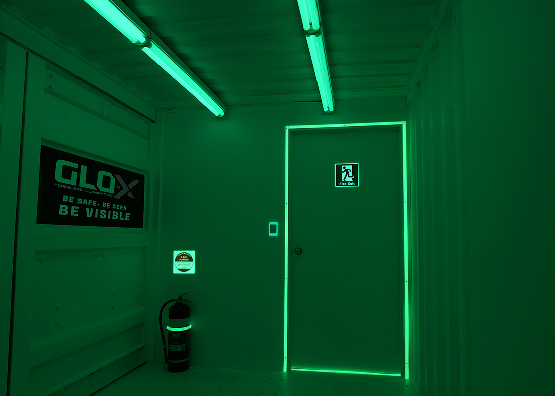Glo-x self-illuminated signs