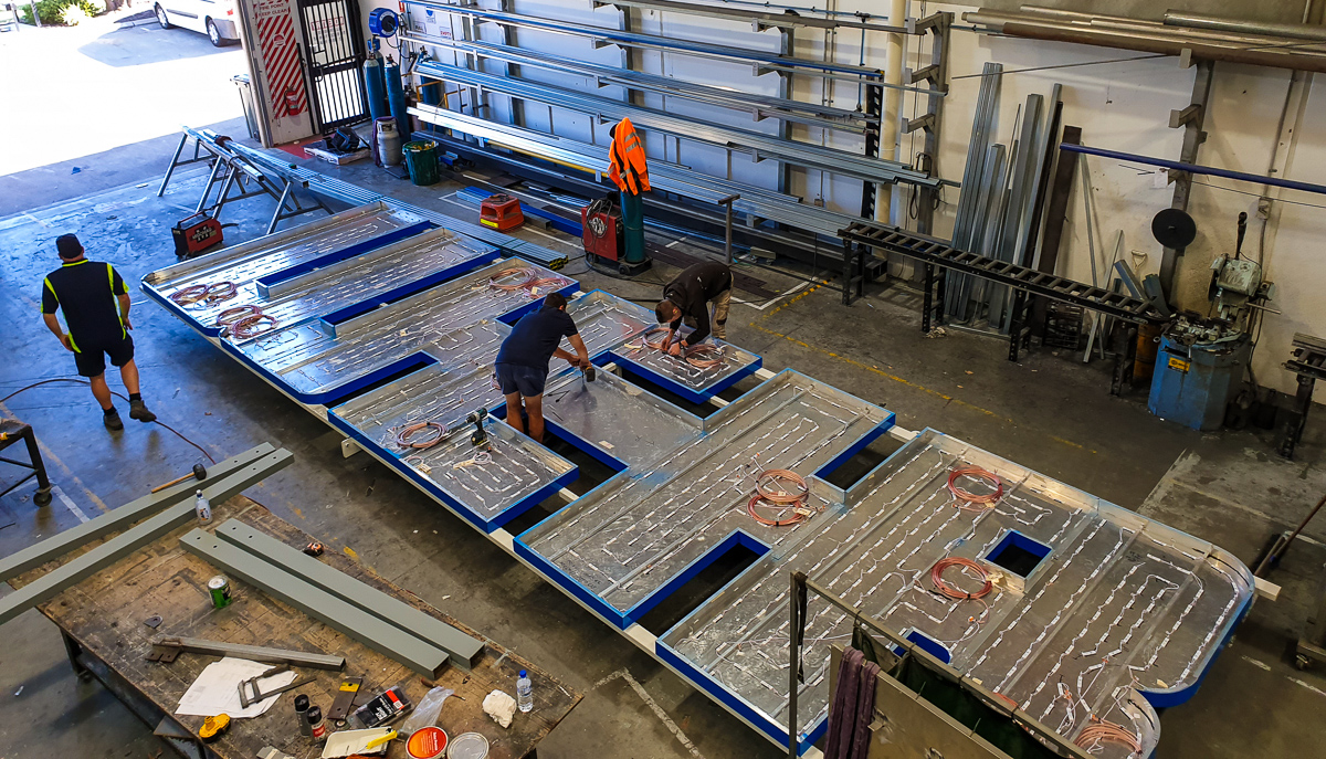 Fabricating the signage for Weir Minerals