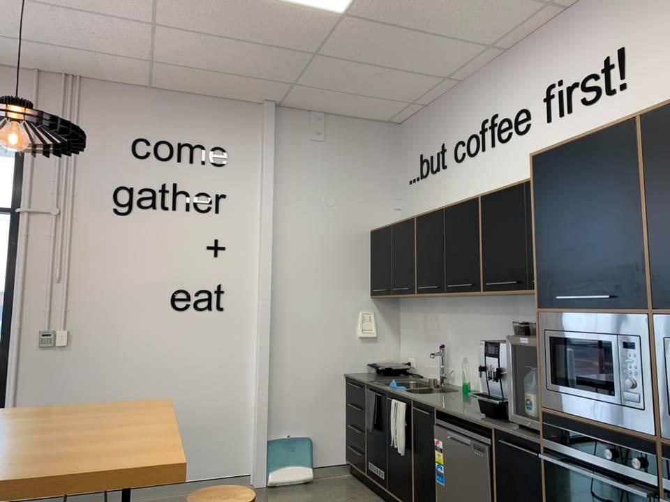 Venture Homes interior signage, Bunbury