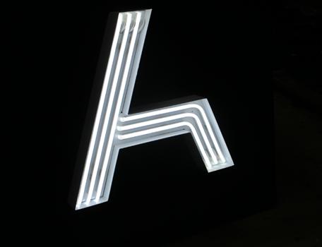 The Adnate illuminated signage