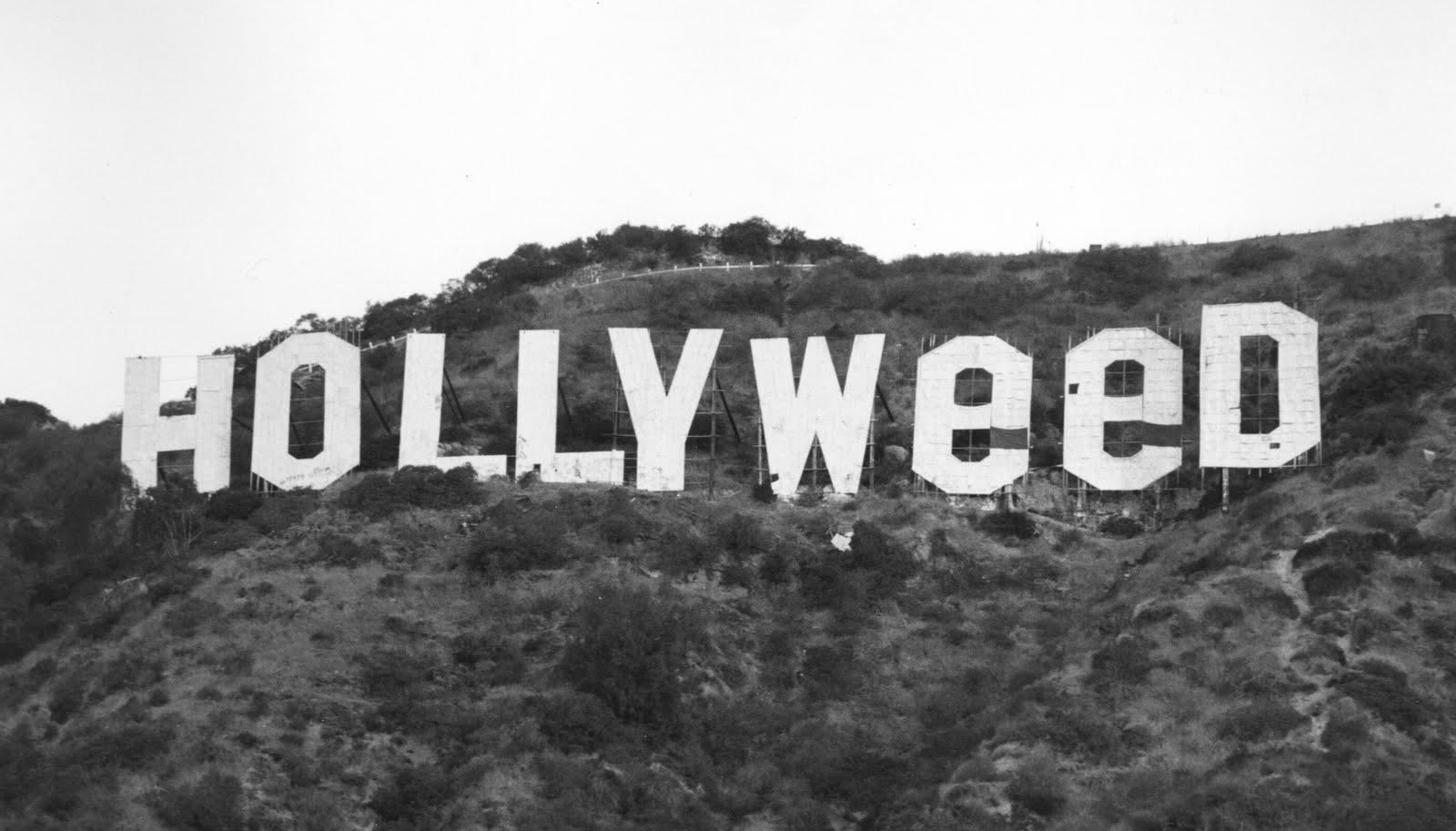 The 'HOLLYWeeD' sign - 1976