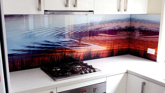 Bring colour into your kitchen. Printed splash back solutions