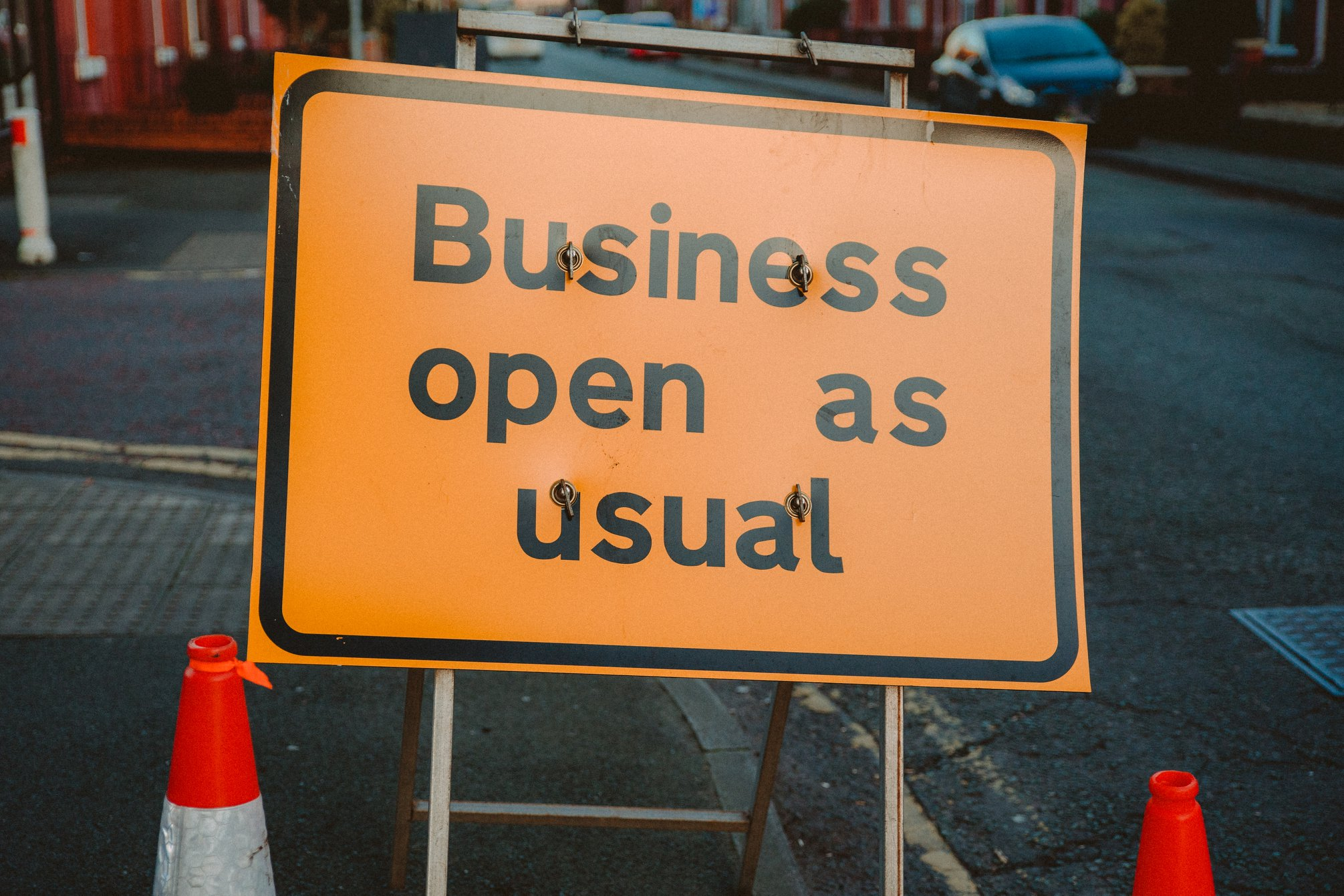 It's business as usual at Sign Here Signs
