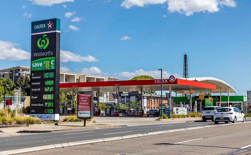 Pylon sign at a petrol station