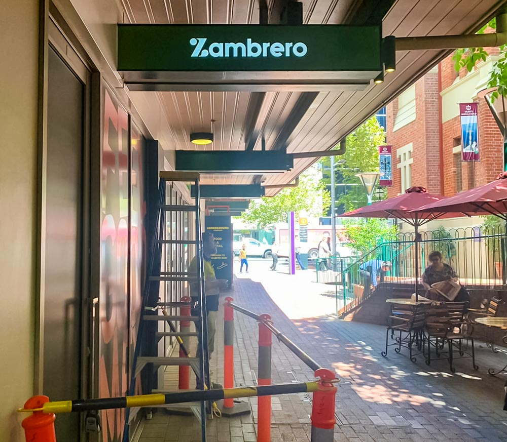 Zambrero lightboxes, Perth WA